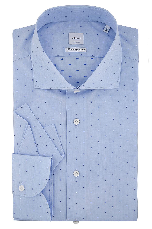 Camicia Càrrel azzurra fil coupé 200/2