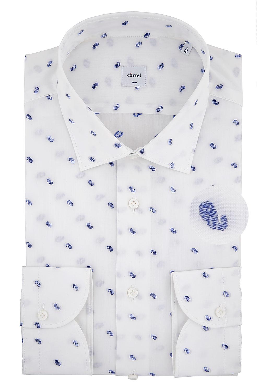 Camicia Càrrel Slim fit bianca fil coupé